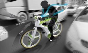 La bici che ricicla l'aria inquinata e protegge dallo smog