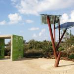 Una versione dell'albero a pannelli solari