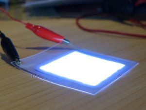 Esempio di LED ultrasottile realizzato con la tecnologia LightPaper