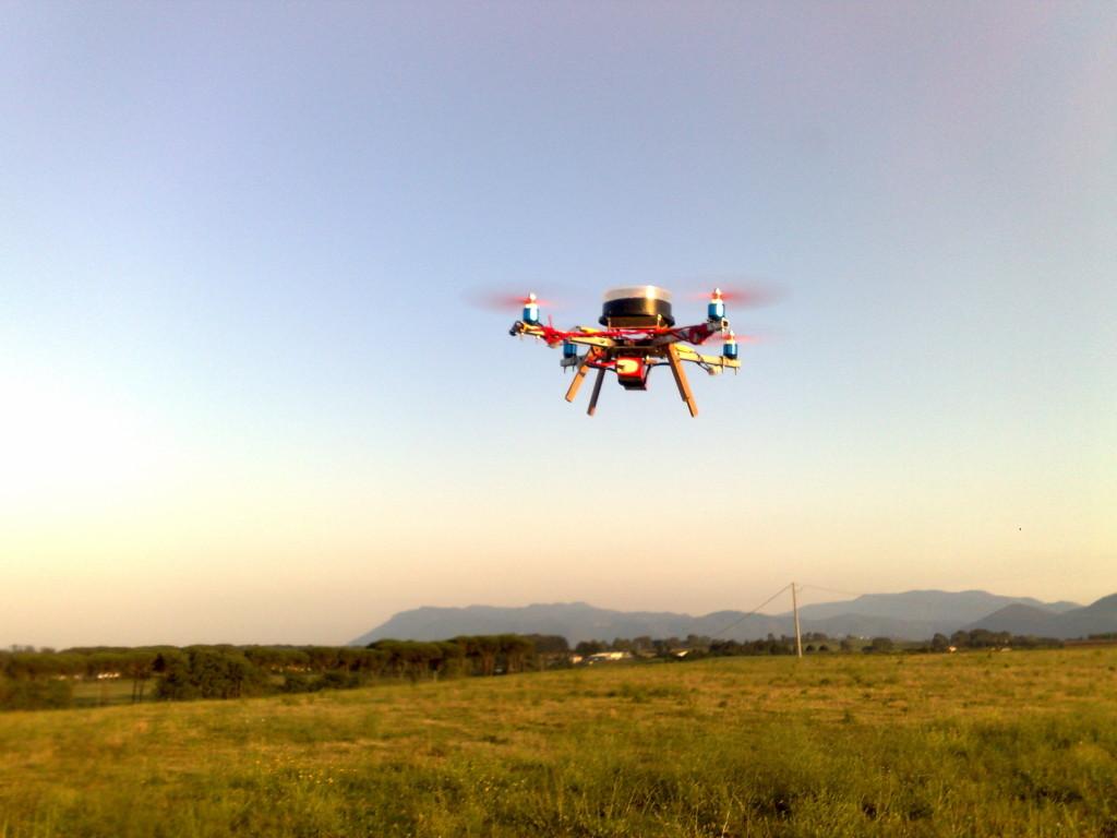 Il drone costruito da Giacomo Furia