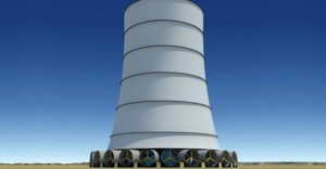 La torre a energia eolica-solare