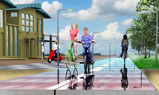 """La strada con pannelli solari incorporati """"SolaRoad"""""""